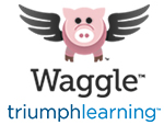 Triumph Learning and Waggle Logo